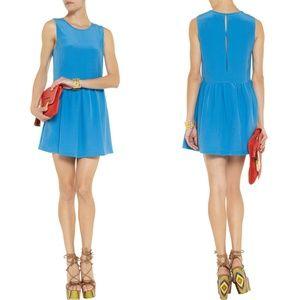 JOIE Turquoise Silk Babydoll Mini Dress M (8 - 10)